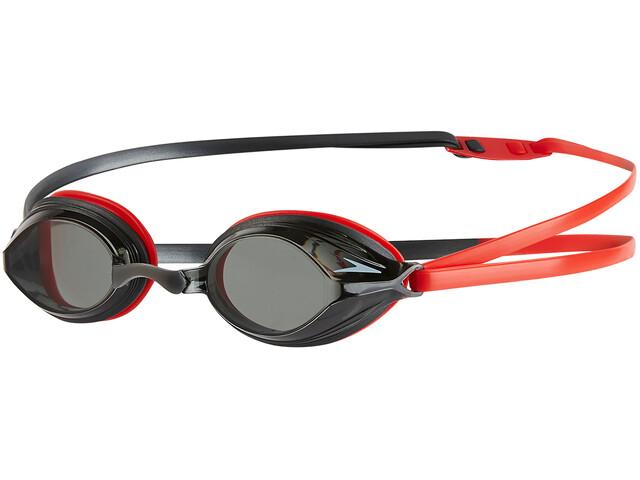 speedo Vengeance Goggle Lava Red/USA Charcoal/Smoke